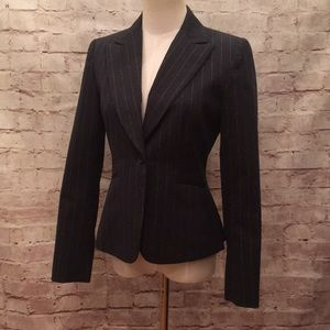 Antonio Melani Blazer Fitted Smoky Gray Pinstripe